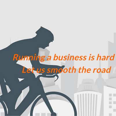 "Cyclist image with saying about ""smoothing the road for you"""